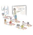 Teacher in school vector