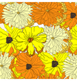 Seamless wallpaper with yellow flowers vector