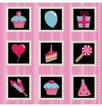 Party stamps vector