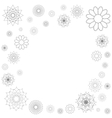 Decorative frame of round ornament spirograph vector
