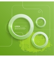 Modern abstract design with 3d glowing rings vector