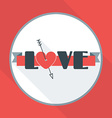 St valentines day greeting card in flat style word vector