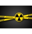 Danger tape abstract background with radiation vector