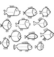 Shoal of fishes vector