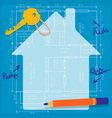 Happy planning of a future family home vector