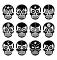Lucha libre - mexican sugar skull masks black icon vector