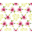 Watercolor flower pattern vector