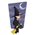 Young halloween witch vector