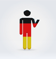 German symbolic citizen icon vector