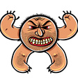 Angry cartoon monster with stubble vector