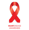 Heart disease ribbon vector