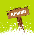 Spring concept with wood sign post vector