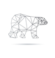 Bear abstract isolated on a white backgrounds vector