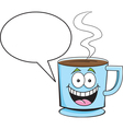 Coffee cup with caption balloon vector