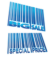 Sale price barcode set vector