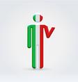 Italian symbolic citizen icon vector