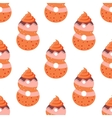 Seamless pattern with cartoon cookies of number vector