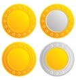 Gold and silver coins cash with stars template vector