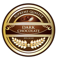 Dark chocolate label vector