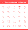 Set of thin line stroke medical icon vector
