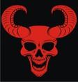 Red demons head vector
