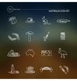 Australia icons set outline vector