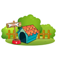 A pethouse near the fence vector