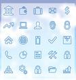 25 bank icons set vector