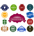Set of colorful hipsters vintage labels vector