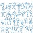 Doodles people vector