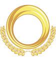 Golden badge ornament vector