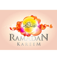 Abstract ramadan kareem vector