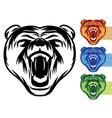 Bear mascot icons vector