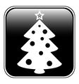 Christmas tree symbol button vector