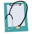 Stethoscope on the blank vector