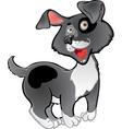 Fun black dog vector