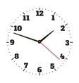 Round office clock vector