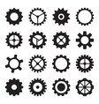 Set of cogwheels pinions and gears vector