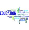 Word cloud education vector