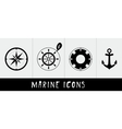 Marine icons vector