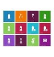 Sex and condom icons on color background vector