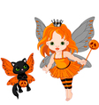 Halloween baby fairy vector