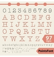 Points font 97 letters numbers and signs vector