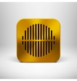 Technology app icon with gold metal texture vector