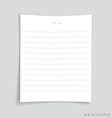 Empty white papers vector