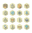 Thin line icons for science and education vector
