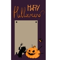 Halloween card with space for text vector