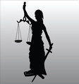 Justice statue silhouette vector