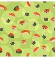 Seamless sushi vector