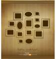 Vintage picture frames vector